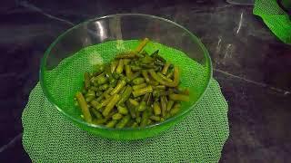 Простой салат со спаржевой фасолью