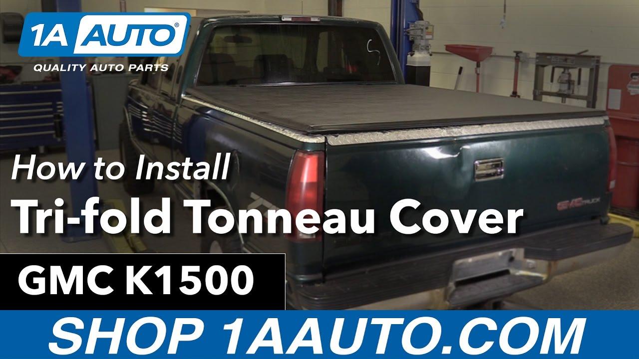 How To Install Tri Fold Tonneau Cover 88 99 Gmc K1500 Youtube