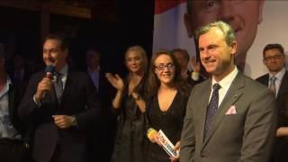 Wahlfeier: Auftritt von Norbert Hofer und HC Strache