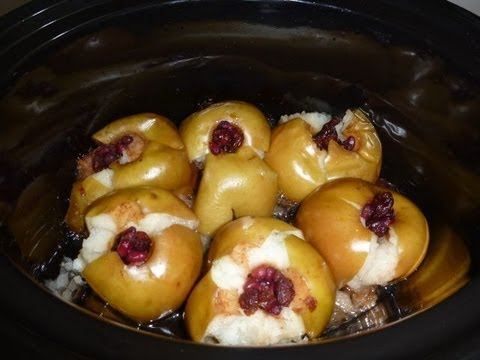Easy Dessert Recipes - Slow Cooker Baked Apples