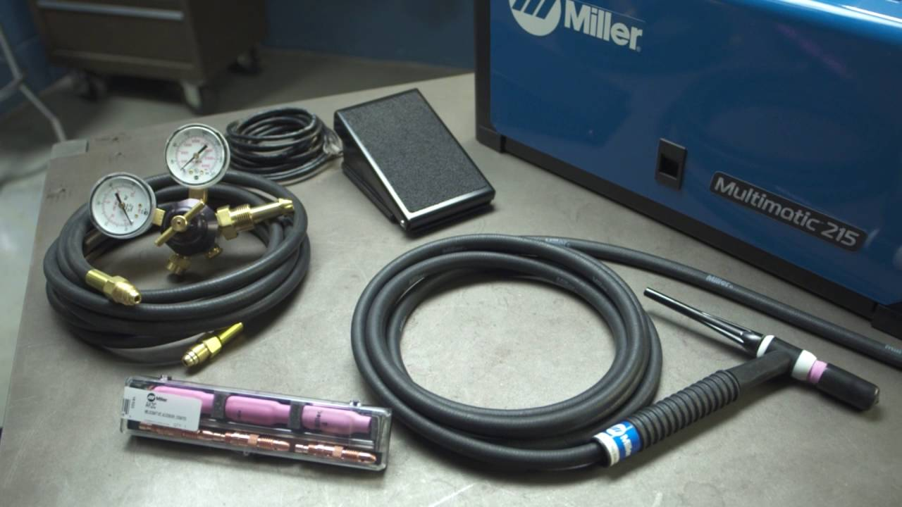 Miller Multimatic 215 >> Miller Multimatic 215 Lift-Arc TIG (GTAW) Welding Setup ...