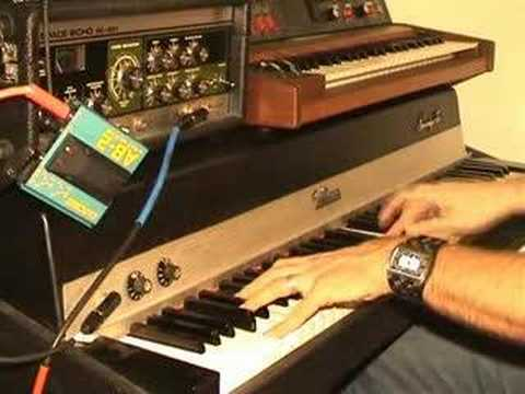 fender rhodes amp test youtube