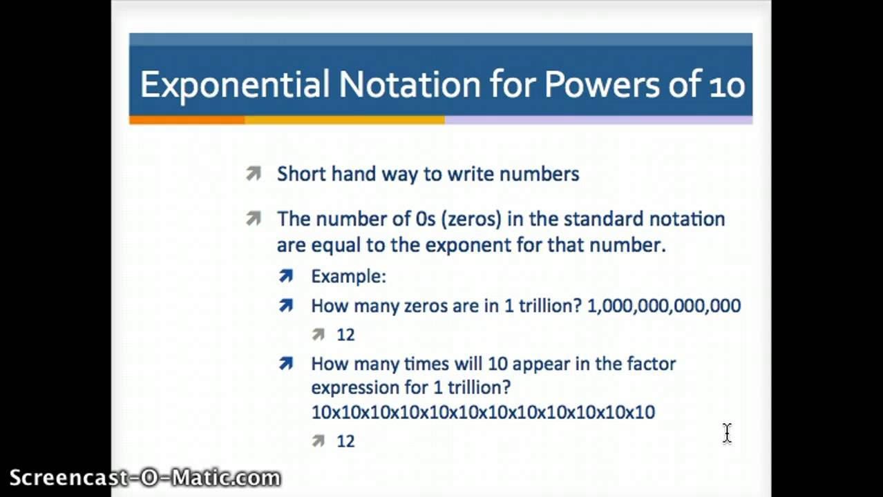 Exponential notation for powers of 10 youtube falaconquin