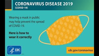 Wearing a cloth face covering in public may help prevent the spread of COVID-19.