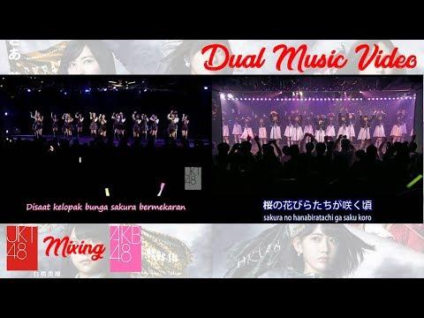 [JKT48 & AKB48 + Lyrics] Kelopak-Kelopak Bunga Sakura - Sakura no Hanabiratachi
