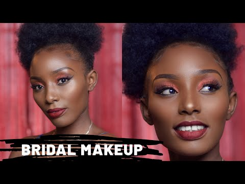 BRIDAL MAKEUP TUTORIAL ON BROWN SKIN