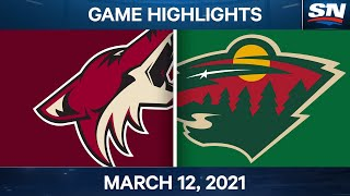 NHL Game Highlights | Coyotes vs. Wild - Mar. 12, 2021