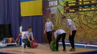 Тяжелая атлетика. Чемпионат Украины-2016. Мужчины, 77 кг. Городок, Хмельницкая область