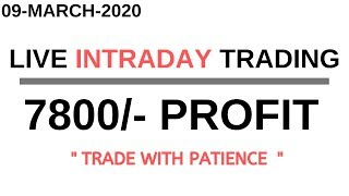 LIVE INTRADAY TRADING|| 09 MARCH 2020||