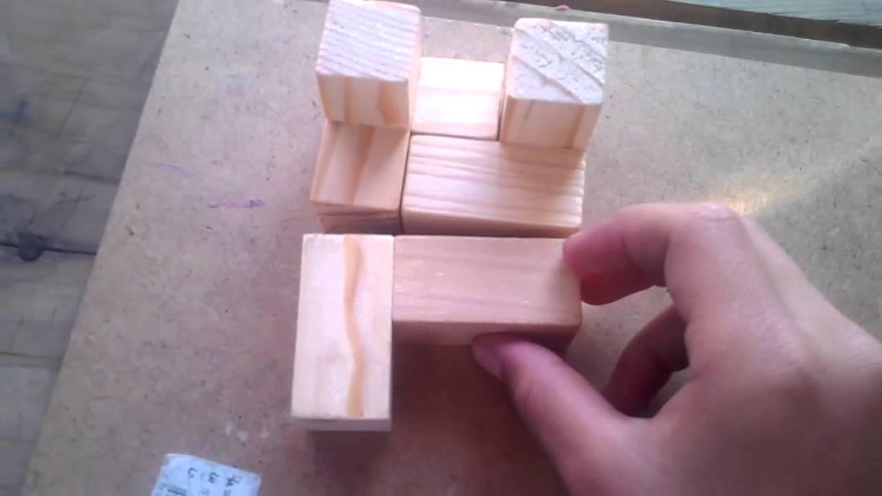 Como a ser una tumba con el cubo de madera youtube - Cubos de madera ...