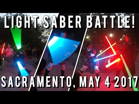 Sacramento Light Saber Battle! May The Fourth Be With You! F