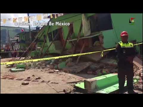 Deja sismo destrucción total en Ocuilan, Estado de México