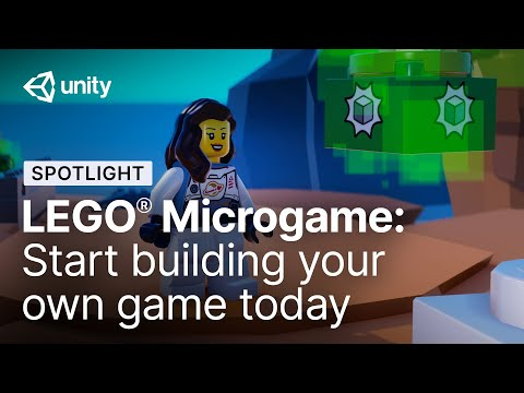 Create games with virtual LEGOⓇ bricks in the LEGO Microgame | Unity