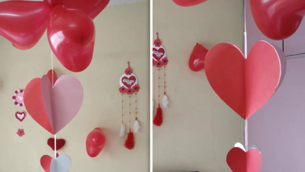 Room Decoration For Valentine Surprise Romantic Decoration Anniversary Room Decorating Idea At Home Youtube