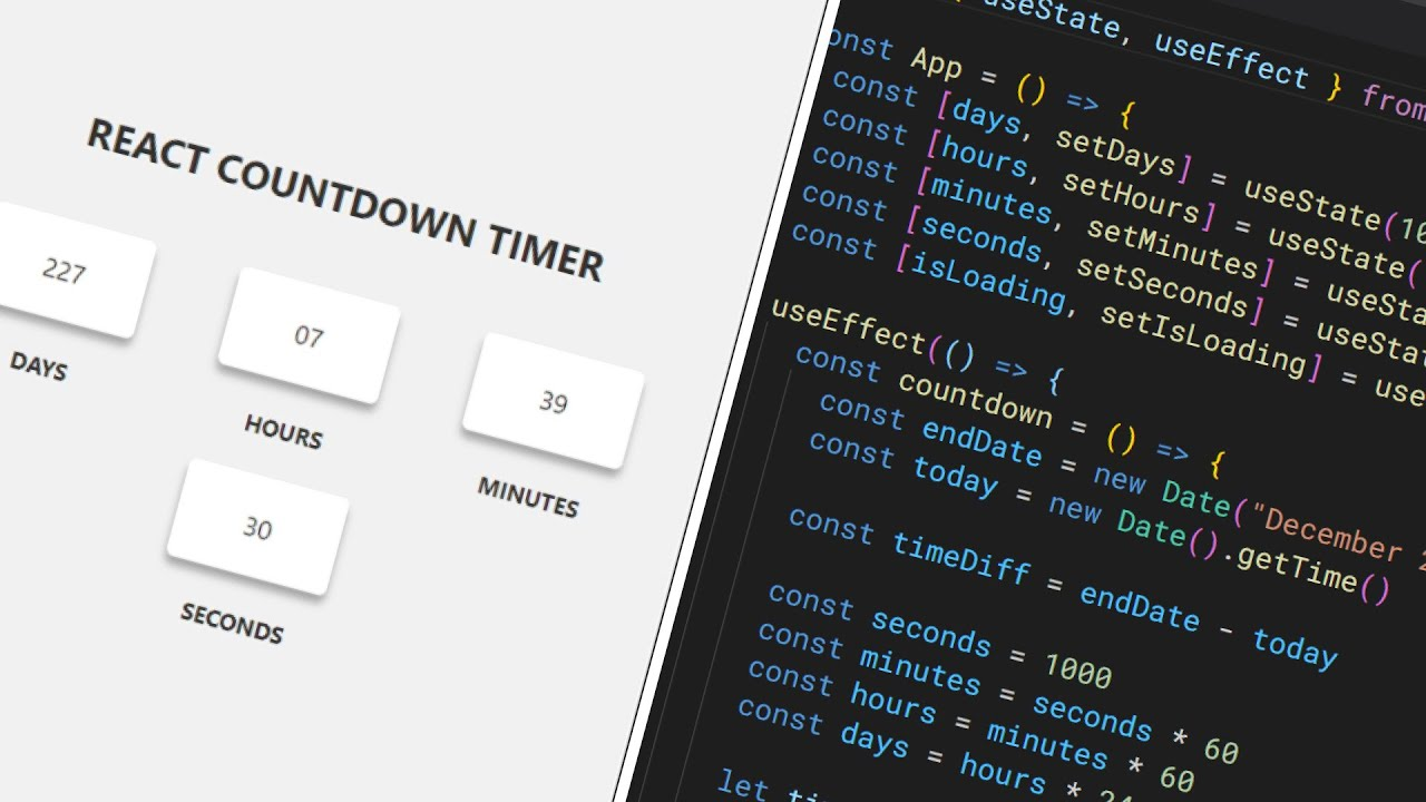 Let's Build A React Christmas Countdown Timer
