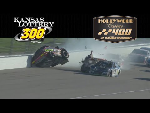 NASCAR Highlights , Kansas Lottery 300 - Hollywood casino 400 - 10/21 - 10/22/2017