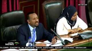 Ethiopia's Ahmed defends his reform decisions