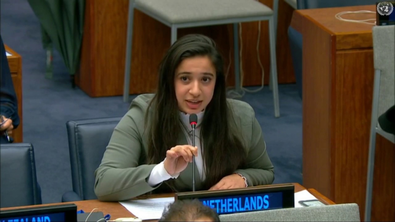 Hajar en Eefke bij de VN
