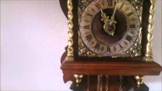 Small Dutch Nut Wood Zaanse Wall Clock For Sale On Ebay Uk.