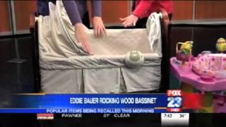 Evenflo Exersaucer and Eddie Bauer Rocking Wood Bassinet Recalls