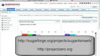 SugarCRM install onto WebSphere sMash