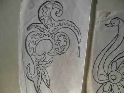 Embroidery Design Tracings - YouTube