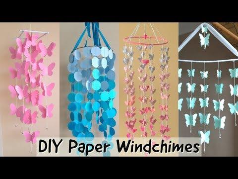 DIY | BEAUTIFUL PAPER WINDCHIME   |  Paper wall decor |parul pawar