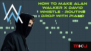 FL Studio Tutorial | How to make Alan Walker x David Whistle Routine Drop with Piano & Guitar