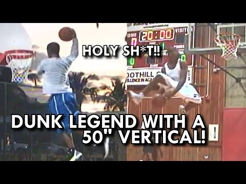 """6'1"""" DUNK LEGEND with a 50"""" INCH VERTICAL! OH MY GOODNESS! UNSEEN GOLDEN CHILD!"""