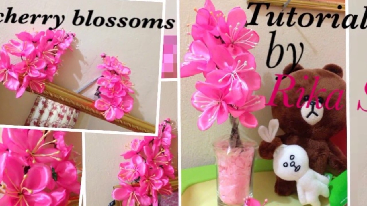 D.I.Y Sakura Flower   Cerry blossoms (Cara membuat bunga sakura palsu) 5b5523f2ef