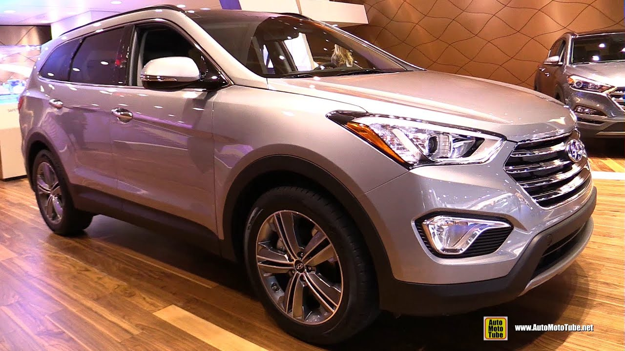 2016 hyundai santa fe limited exterior and interior. Black Bedroom Furniture Sets. Home Design Ideas