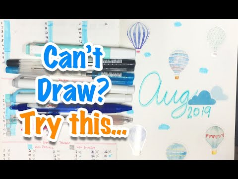 Aug Bullet Journal Set-Up | Hot Air Balloon Theme | July Flip-through