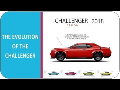 The Evolution Of The Dodge Challenger (1970 - challenger demon 2018)