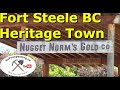 Gold Prospecting, Heritage Town Fort Steele British Columbia