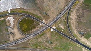 Крымскій мостъ 4К: Розв'язка на соединеніи автоподходовъ і траси А-290 на Тамані. Энергомостъ