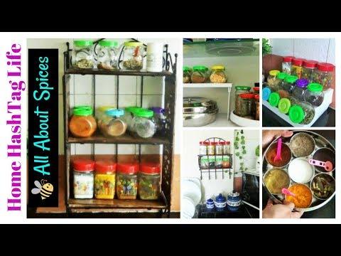Spice Organization 5 Ideas   Indian Kitchen Organization Idea   Health Benefits of Spices