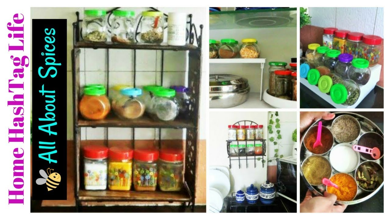 Spice Organization Or Storage Ideas | Indian Kitchen Organization Idea |  Health Benefits Of Spices