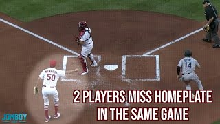Both teams miss home plate in the same game, a breakdown