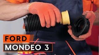 Kuinka vaihtaa jousijalan korjaussarja FORD MONDEO 3 -merkkiseen autoon OHJEVIDEO | AUTODOC