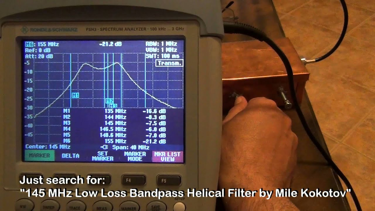 Characterize My Homemade VHF Helical Bandpass Filter with VNA