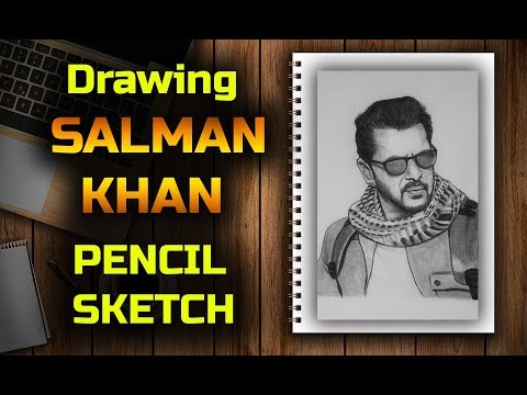 drawing Tiger Zinda Hai Salman Khan Pencil Sketch