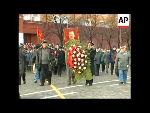 Communists Lay Wreath On Stalin's Tomb To Mark His 130th Birthday