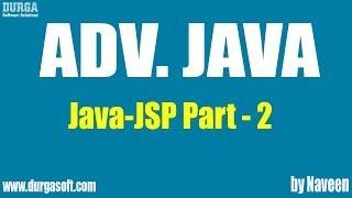 Adv Java-JSP-Part 2