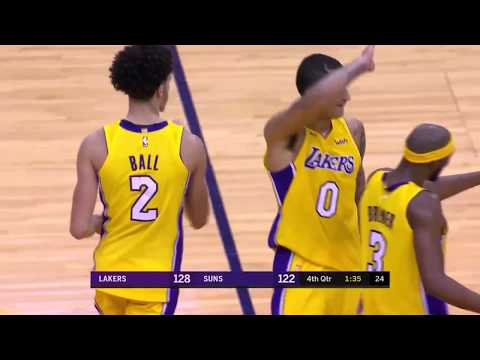 Lonzo Ball Finishes with 29 Points, 11 Rebounds and 9 Assists vs. Suns