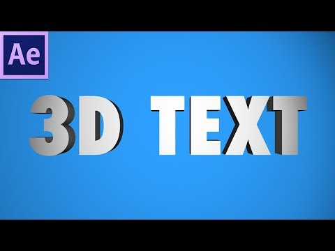 How to create 3D TEXT in Adobe After Effects! (Lights, Cameras, Animation) (CC 2017 Tutorial)