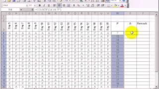 how to make an attendance sheet