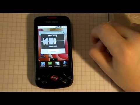 Samsung Galaxy Spica - Äänentunnistus englanniksi