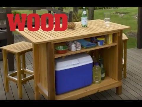 Cedar Outdoor Bar & Server Project Overview – WOOD magazine