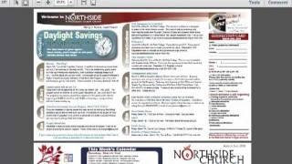 Church Bulletin Samples PREVIEW