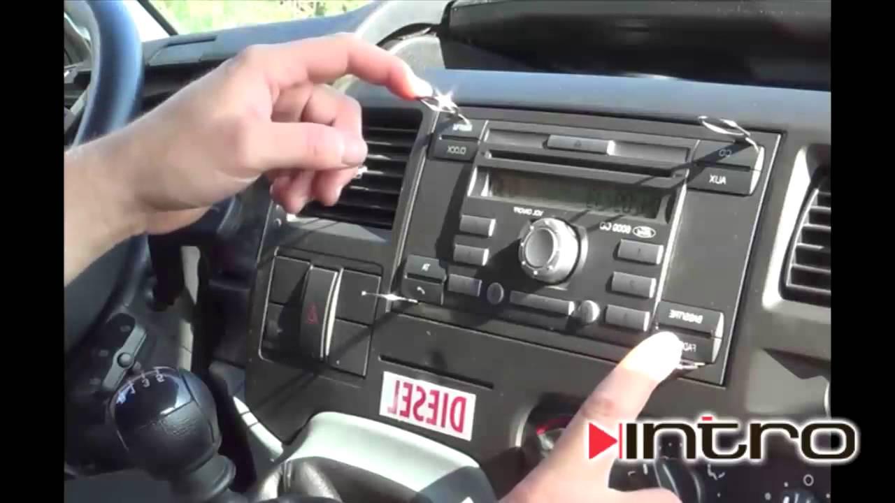 как разблокировать магнитолу ford transit